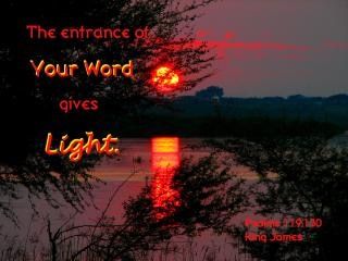 God s word gives light