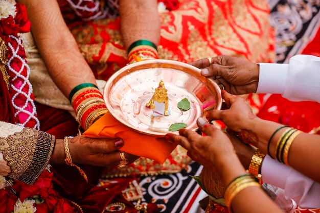 God shri krishna golden sculpture in coper plate