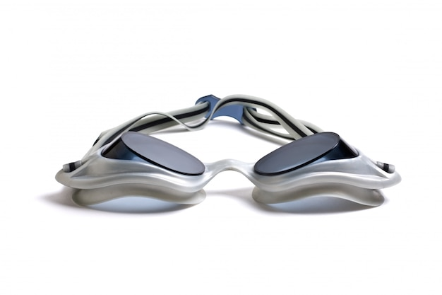 Goggles for swimming isolated on a white background