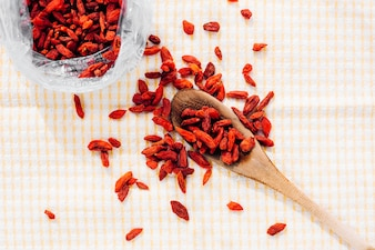Gogi berries on table