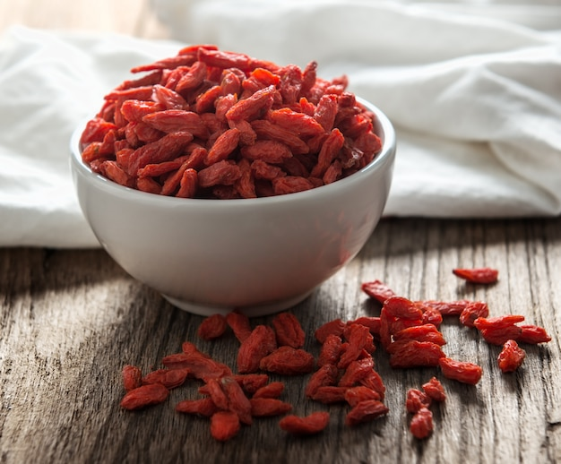 Goji berries on the table