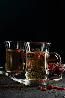 Goji Berry Tea To Normalize Metabolism Antioxidant Contributes