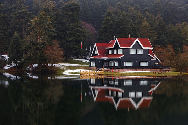 Golcuk natural park, lake golcuk, bolu