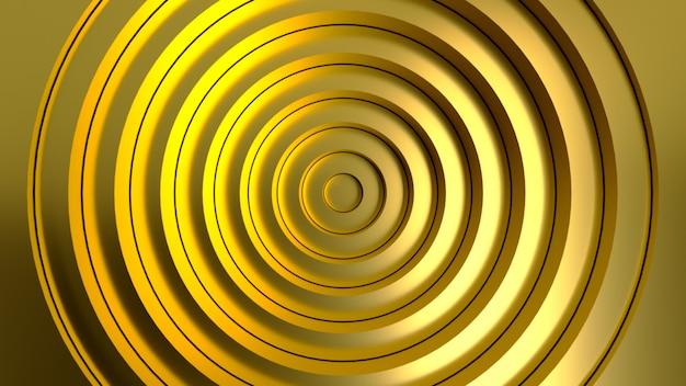 Золотой абстрактный узор из кругов