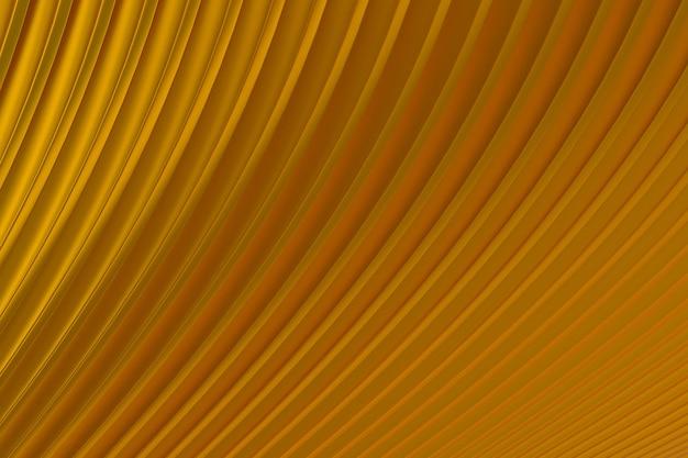 Золото абстрактная стена волна архитектура абстрактный фон 3d-рендеринг, золотой фон для презентации