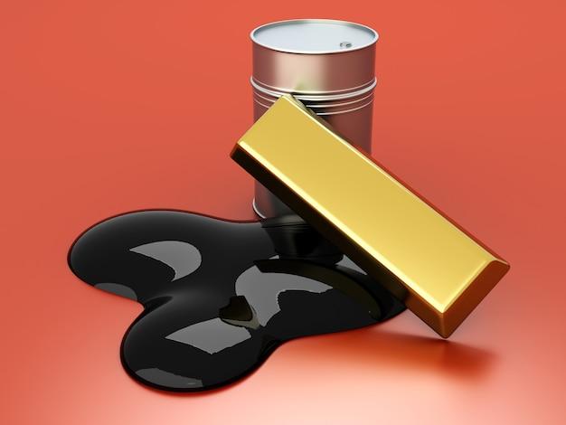 Золото и нефть, два товара на фондовом рынке.