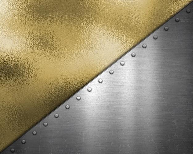 金と銀のメタリックのテクスチャ背景