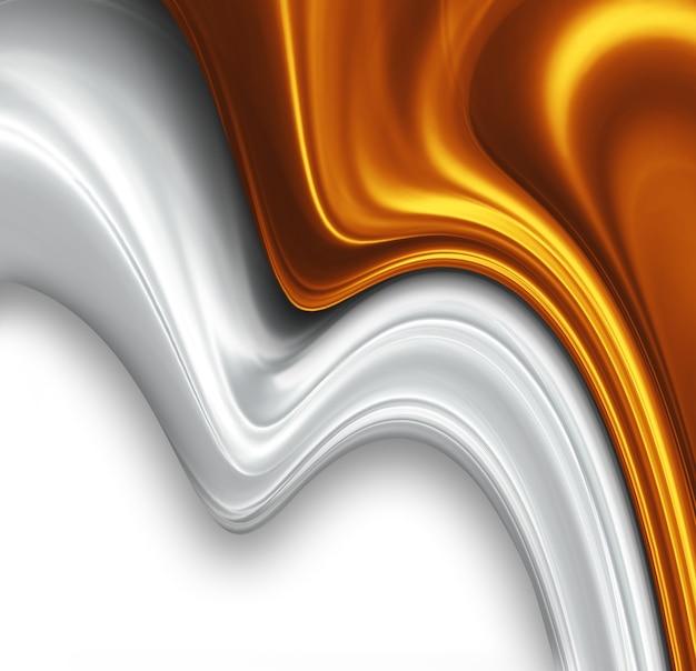 Золотой и серебряный шелковый дизайн красивый современный фон
