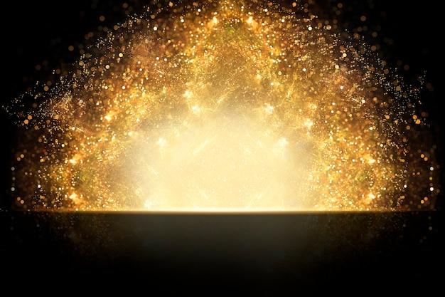 プレミアム製品のゴールドの背景