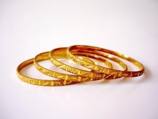 Gold bangles, gold