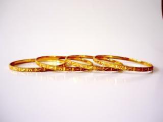 Gold bangles, shiny, many, bangles
