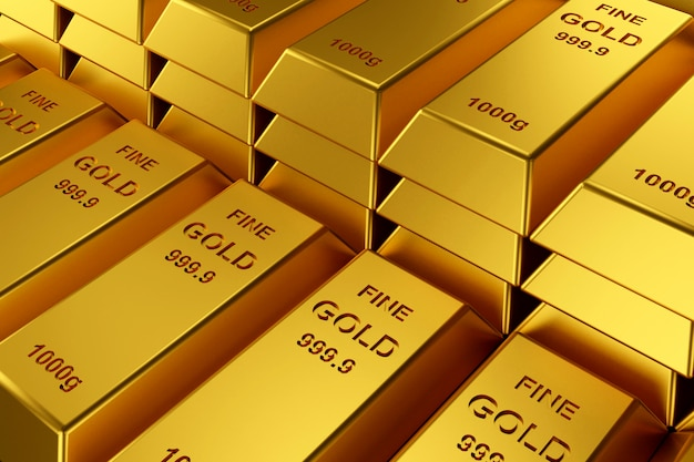 Gold bars for website banner.