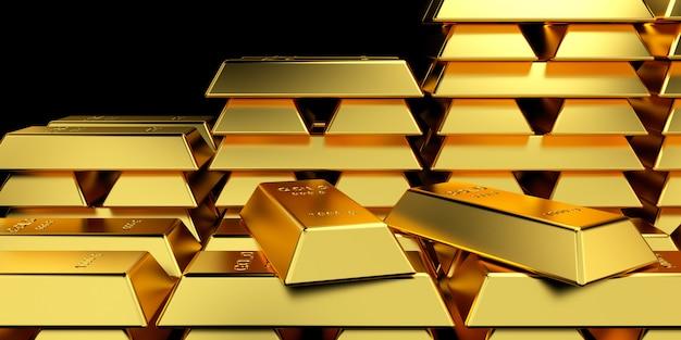 Gold bars for website banner