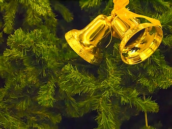 Gold bells Christmas Xmas Hanging Tree Decoration.