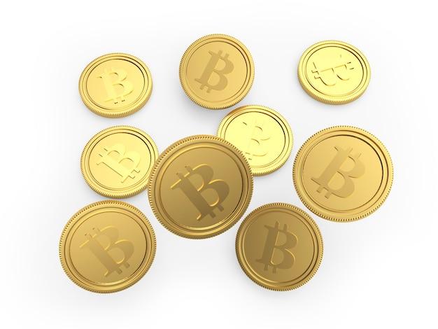 ゴールドビットコインコインが落ちています