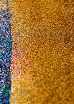 Gold and blue glitter bokeh lights background