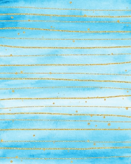 Gold and blue watercolor background