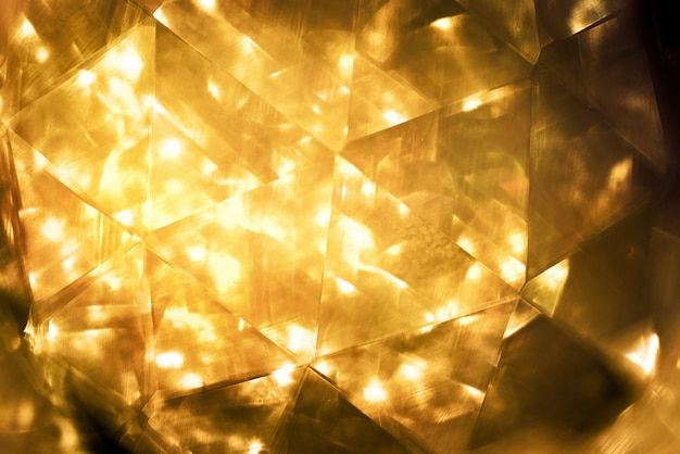 Gold bokeh colorfull blurred abstract background for anniversary
