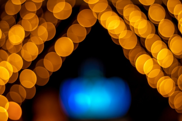 Gold bokeh textures and reflections