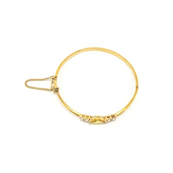 Gold bracelet isolated