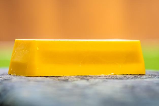 Gold brick made of natural beeswax
