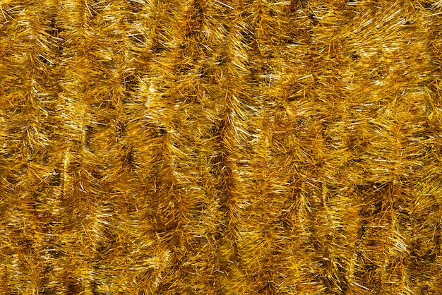 Gold bright tinsel background