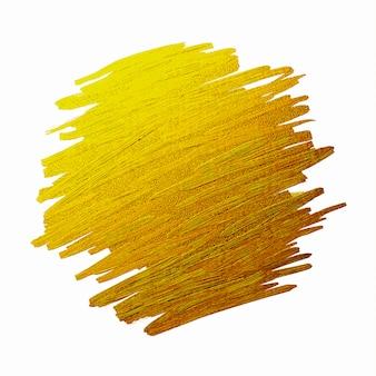 Gold brush stoke texture on white background illustration