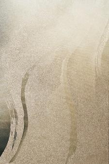 Золотой мазок кисти на блеск фоновой иллюстрации