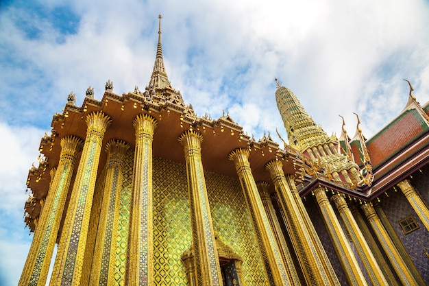 Gold buddha temple in bangkok, thailand