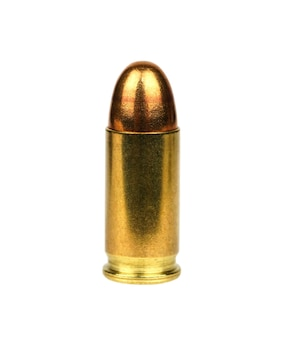 Золотые пули на белом фоне