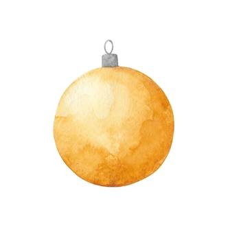 Gold christmas and new year ball clip art xmas and new year tree toy decoration
