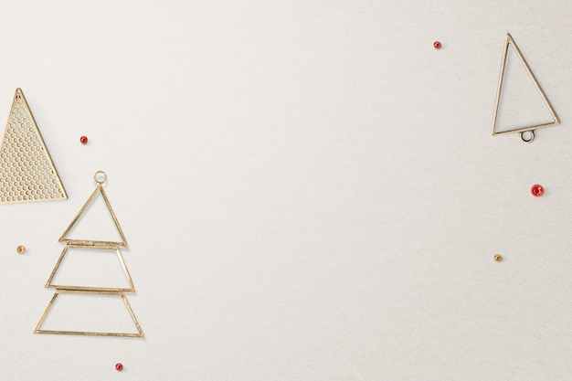 Gold christmas social media banner background with design space