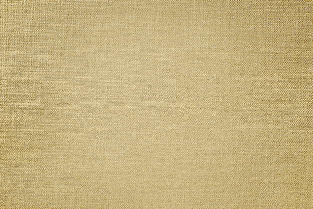 Gold cotton fabric textured background