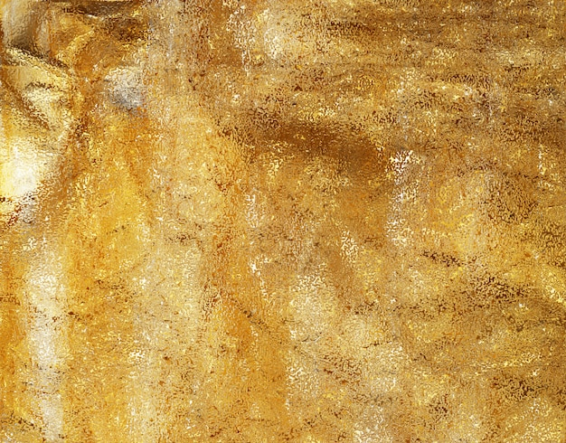 Gold crumpled foil texture background