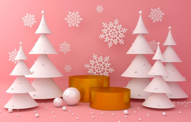 Gold display background and white pine for product presentation
