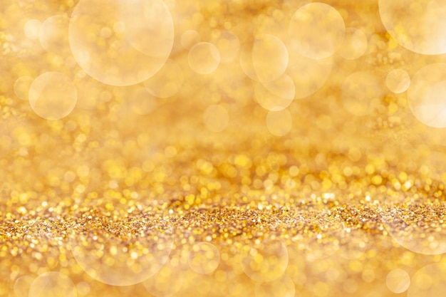 Gold dust elegant with bokeh abstract or texture background