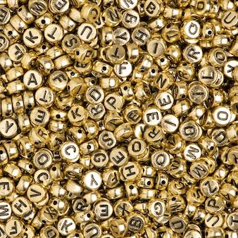 Gold english beads background