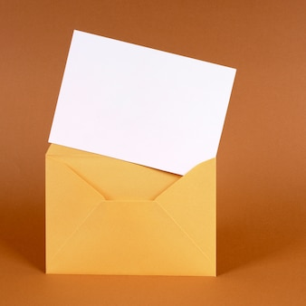 Gold envelope with blank message card