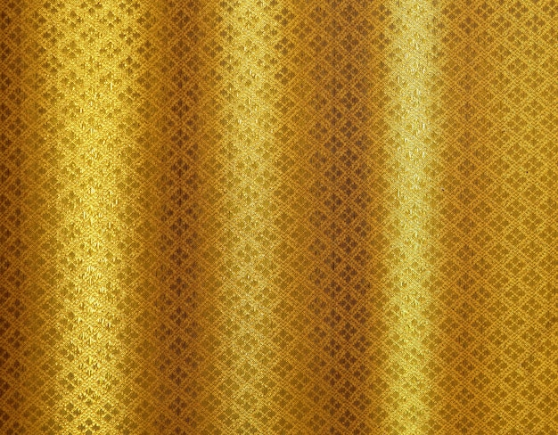 Gold fabric luxury thai pattern background