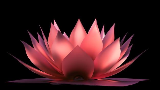 골드 꽃 종이. 3d 그림, 3d 렌더링입니다.