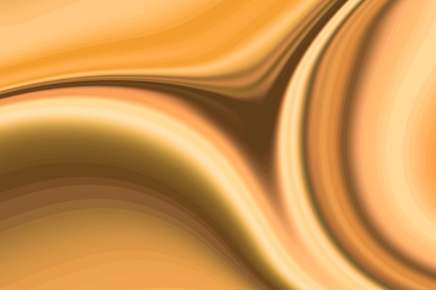 ゴールド流体波ペイントの背景