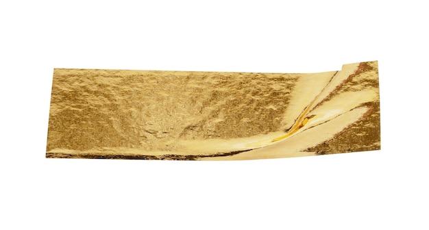 Клейкая лента из золотой фольги, изолированные на белом фоне