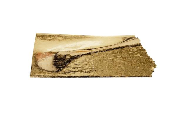 白い背景で隔離の金箔粘着テープ