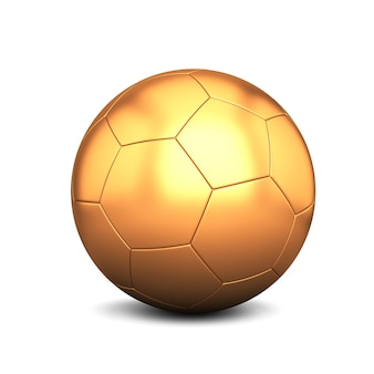 Gold football isolated