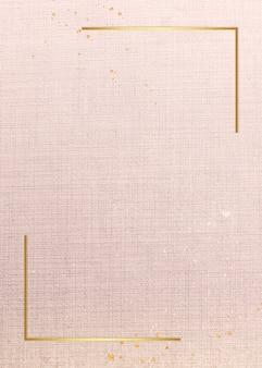 Золотая рамка на розовой карточке