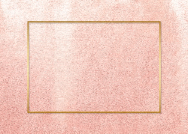 Gold frame on pink card