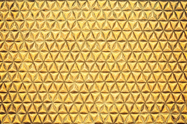 Gold geometric texture metal wall background