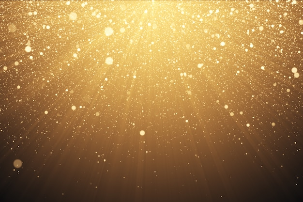 Gold glitter background with sparkles