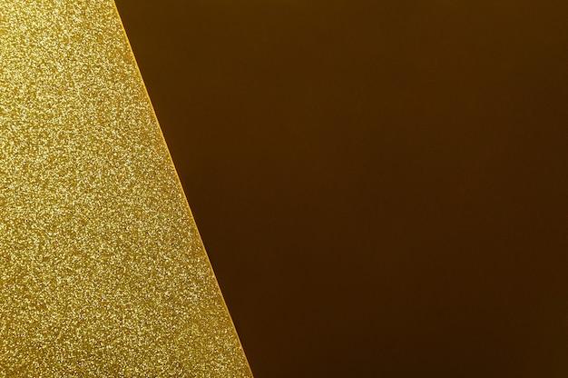 Gold glitter close up background.