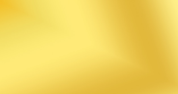 Gold gradient color background for creative abstract backdrop